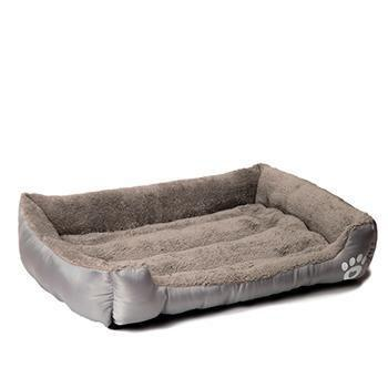 Bedding Pet Bed Warming House Soft Pet Nest Dog sofa bedding For Cat Puppy Plus size beds for large pets Grey / S