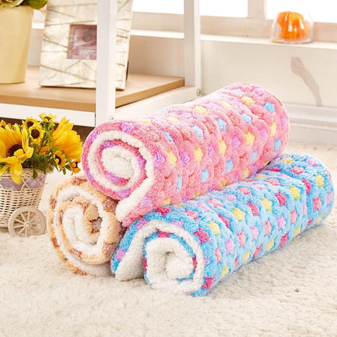 bedding Pet Rest Blanket Puppy Dog Mattress Cushion Breathable Pet Cushion Soft Warm Sleep Mat Blue / S