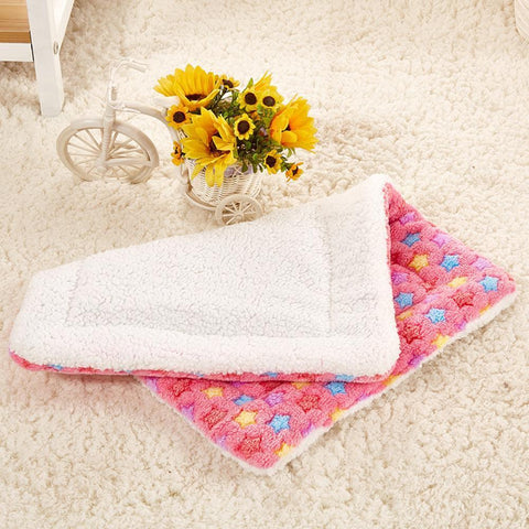 Image of bedding Pet Rest Blanket Puppy Dog Mattress Cushion Breathable Pet Cushion Soft Warm Sleep Mat Blue / S