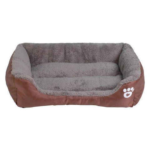 Bedding Sofa Bed for Pets  (Waterproof Bottom, Multi-Layered Foam, Soft Fleece Exterior) Coffee / S