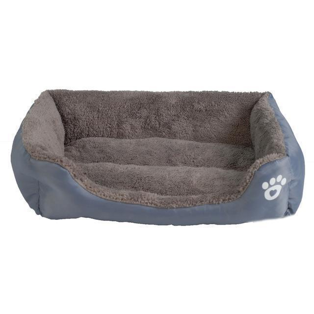 Bedding Sofa Bed for Pets  (Waterproof Bottom, Multi-Layered Foam, Soft Fleece Exterior) Gray / S