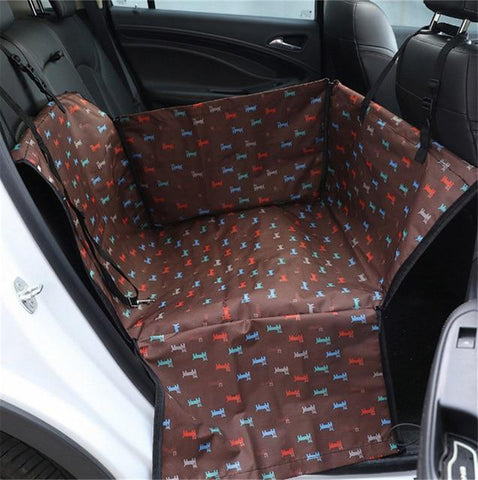 Carriers Anti-Fur Seat Cover-Pet Carrier Dog Car  Back Seat Carrier Cover Pet Dog Mat Blanket Coffee Dog