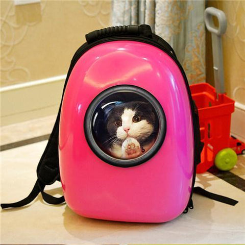 Carriers Outdoor colorful Travel Air Space bubble Backpack airline approved  Pet Carrier Bag Burgundy