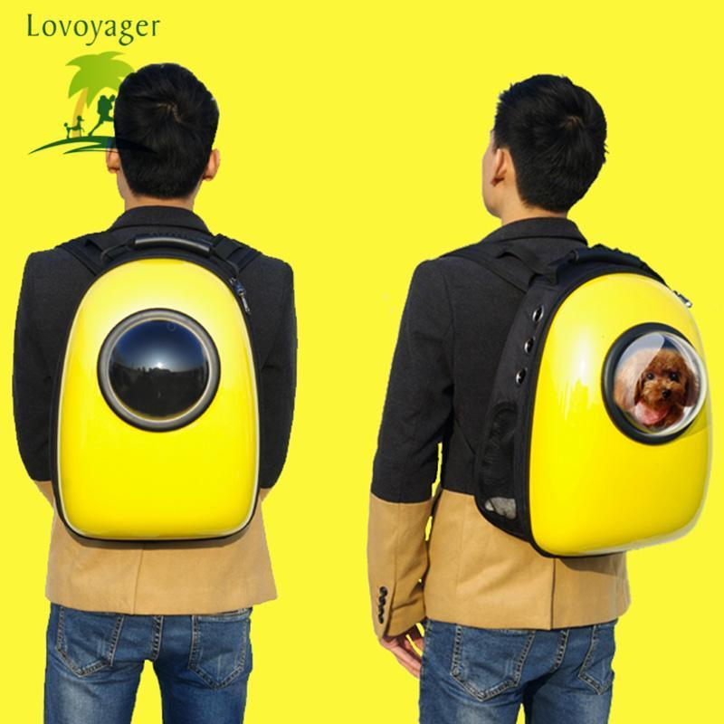 Carriers Outdoor colorful Travel Air Space bubble Backpack airline approved  Pet Carrier Bag Green