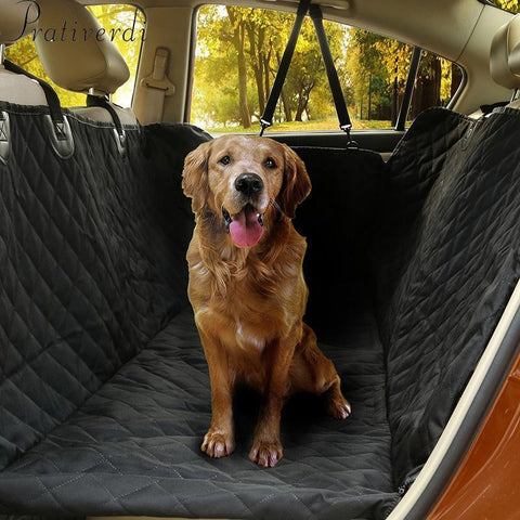 Carriers Pet Car Seat Covers- For Big Dogs Waterproof Back Bench Seat Car Interior Travel Accessories Default Title