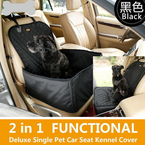 Image of Carriers Waterproof Bag Pet Car Carrier-2 In 1 Fold able Waterproof Dog Pet Car Carriers Storage Bags Black / M