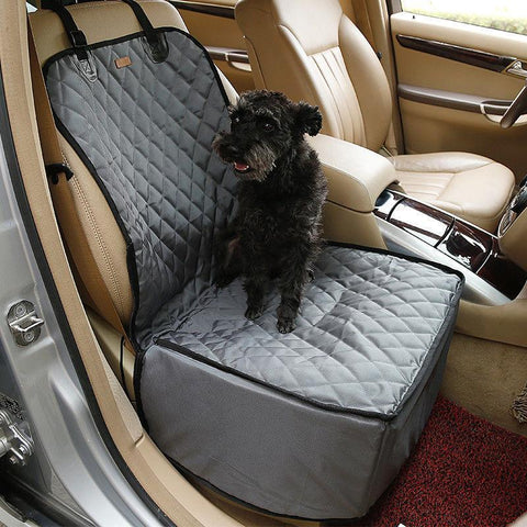 Image of Waterproof Bag Pet Car Carrier-2 In 1 Fold able Waterproof Dog Pet Car Carriers Storage Bags