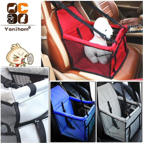 Carriers Waterproof Bag Pet Car Carrier-Carrier for Dogs Breathable Car Bag for Dog Safe Waterproof Travel Carrier for Pet Black