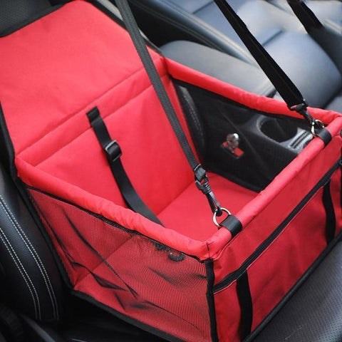 Carriers Waterproof Bag Pet Car Carrier-Carrier for Dogs Breathable Car Bag for Dog Safe Waterproof Travel Carrier for Pet Red