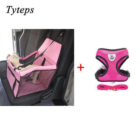 Carriers Waterproof Bag Pet Car Carrier-Pet Carrier Dog Seat Mesh Breathable Outdoor Travel Car Front Seat Cover Pink Bundle 1 / S