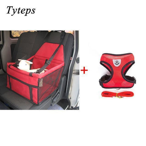 Carriers Waterproof Bag Pet Car Carrier-Pet Carrier Dog Seat Mesh Breathable Outdoor Travel Car Front Seat Cover Red Bundle 1 / S