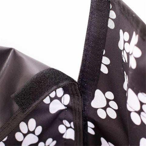 Carriers Waterproof Dog Hammock Car Seat Cover + FREE Seat Belt Black Footprint
