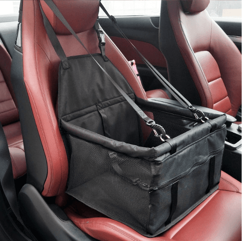 Image of Carriers Waterproof Pet Folding Car Seat Carrier Basket Black