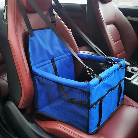 Carriers Waterproof Pet Folding Car Seat Carrier Basket Blue