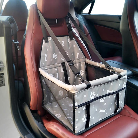 Image of Carriers Waterproof Pet Folding Car Seat Carrier Basket Pink