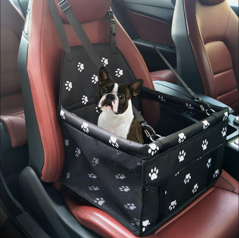 Carriers Waterproof Pet Folding Car Seat Carrier Basket Pink