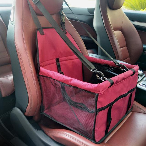 Image of Carriers Waterproof Pet Folding Car Seat Carrier Basket Rose