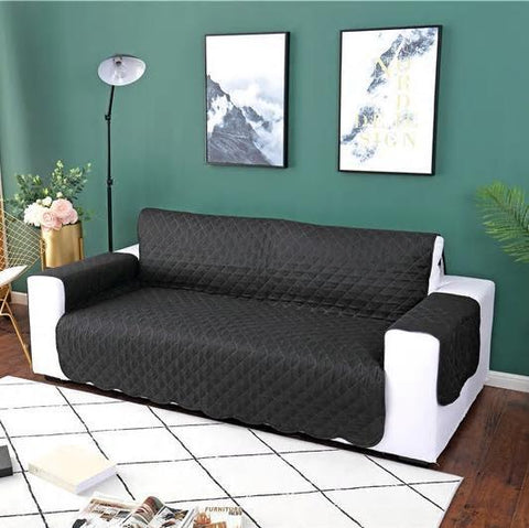 Carriers Waterproof Pets Sofa Cover - Reversible And Washable Couch Protector Black / Three Seater