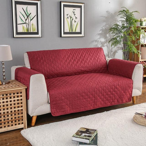 Carriers Waterproof Pets Sofa Cover - Reversible And Washable Couch Protector Burgundy / Double Seater