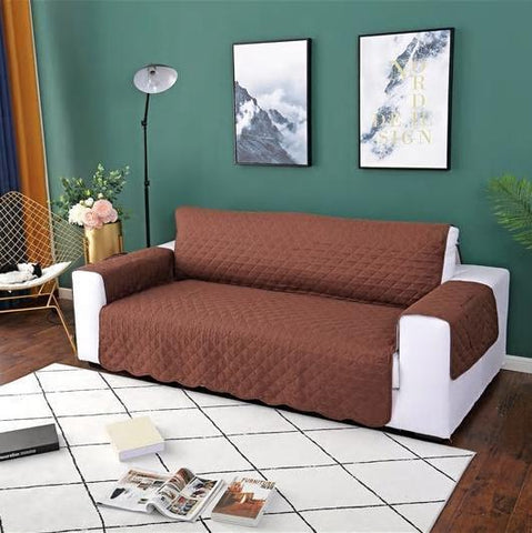 Carriers Waterproof Pets Sofa Cover - Reversible And Washable Couch Protector Coffee / Three Seater