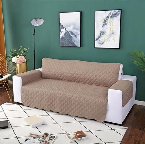 Image of Carriers Waterproof Pets Sofa Cover - Reversible And Washable Couch Protector Cream / Three Seater