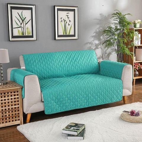 Image of Carriers Waterproof Pets Sofa Cover - Reversible And Washable Couch Protector Turquoise / Double Seater