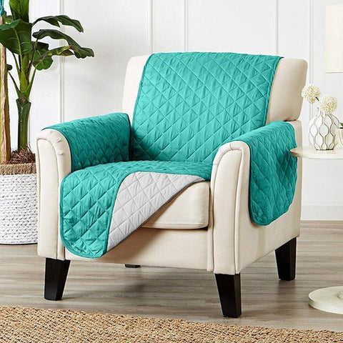 Image of Carriers Waterproof Pets Sofa Cover - Reversible And Washable Couch Protector Turquoise / Single Seater