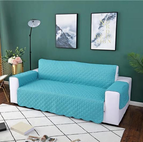 Image of Carriers Waterproof Pets Sofa Cover - Reversible And Washable Couch Protector Turquoise / Three Seater
