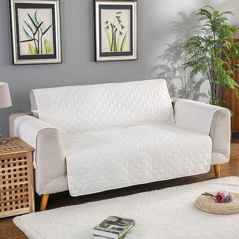 Image of Carriers Waterproof Pets Sofa Cover - Reversible And Washable Couch Protector White / Double Seater