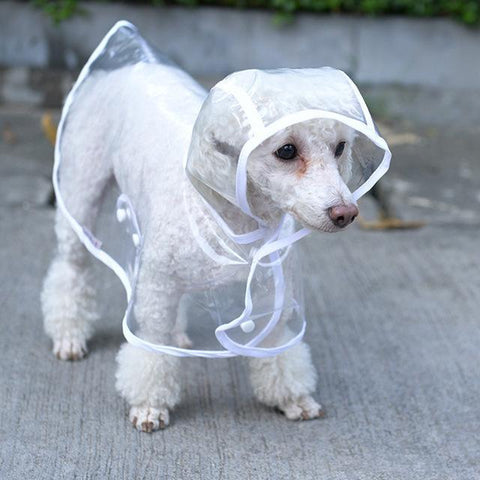 Clothing and Accessories Dog Clothes Waterproof Transparent Rain Coat White / XS