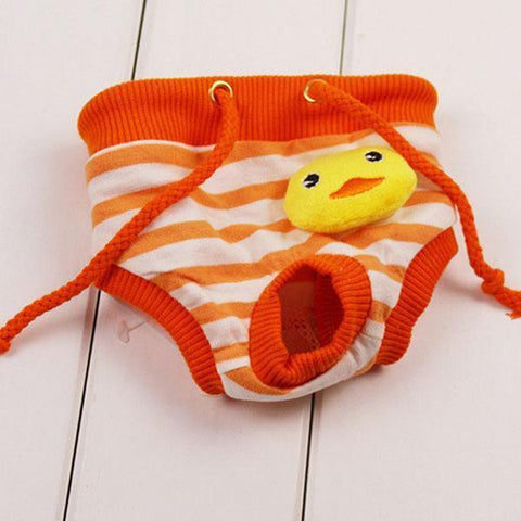 Clothing and Accessories Dog Pet Pants Courtesy of Male Female Dog Health Pant Orange Duck / S