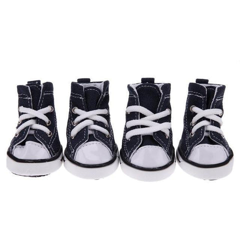 Image of Clothing and Accessories Pet Shoes-Denim Pet Dog Shoes Anti-slip Waterproof Sporty Sneakers Booties Blue / XS