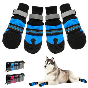 Clothing and Accessories Pet Shoes-Waterproof Winter  Anti-slip Snow Pet Boots Paw Protector Blue / S