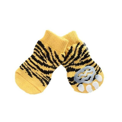 Clothing and Accessories Pet Socks-Warm  Soft Acrylic Pet Knit Happy Socks Cute Cartoon Non-slip Socks Gold / S