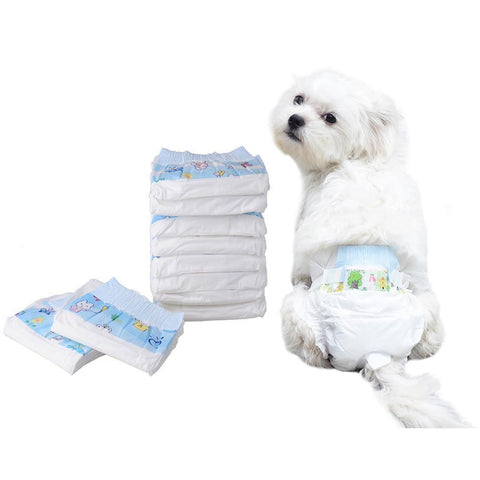 Image of Clothing and Accessories Super-absorbent Pet Diapers Dog Health Pants Breathable Nappy Packs XS