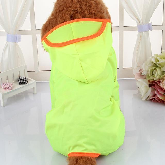 Clothing and Accessories Waterproof Dog Raincoat (Umbrella Coats) Fluorescence / XS