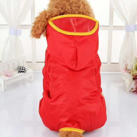 Image of Clothing and Accessories Waterproof Dog Raincoat (Umbrella Coats) Red / XS