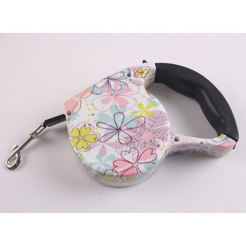 Collars and Leashes Automatic Dog Collar Retractable Leash Butterfly