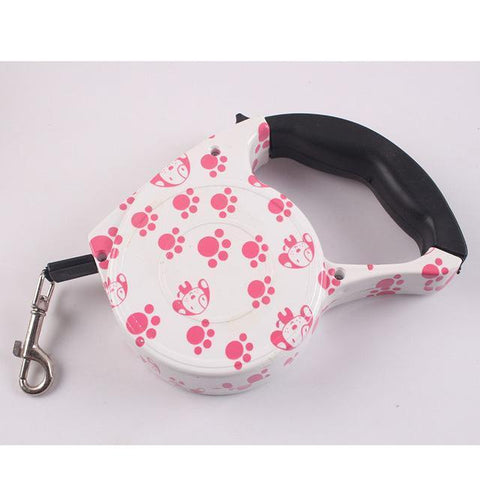 Collars and Leashes Automatic Dog Collar Retractable Leash Footprints