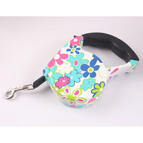 Collars and Leashes Automatic Dog Collar Retractable Leash Marble