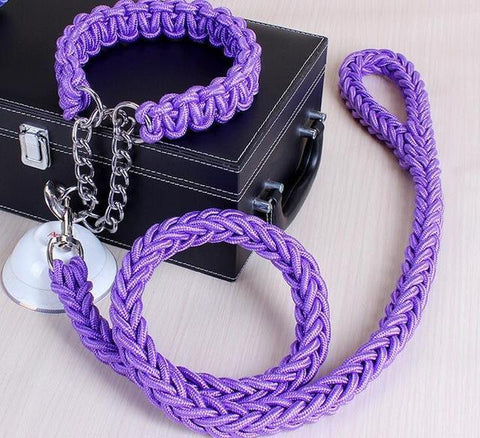 Image of Collars and Leashes High Quality Upgraded Leash for Large Dogs Purple / S   25 to 30 cm