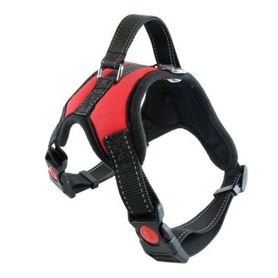 Collars and Leashes Nylon Heavy Duty Dog Pet Harness Reflective Collar Padded Dog Harnesses vest red / M