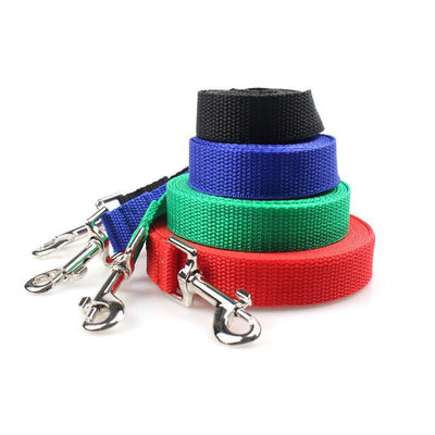 Collars and Leashes Pet dog Nylon Walking Training Leash Black / 1.5m