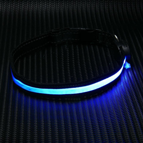 Image of Safety LED Collar-USB LED Light waterproof Flashing Glow Pet Collar
