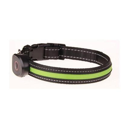 Collars and Leashes Safety LED Collar-USB LED Light waterproof Flashing Glow Pet Collar Green / S