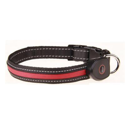 Collars and Leashes Safety LED Collar-USB LED Light waterproof Flashing Glow Pet Collar Red / S