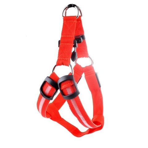 Image of Collars and Leashes Safety Pet Collar with 3 Glowing Modes & 3 Reflective Strings, Adjustable Soft Nylon Webbing Red / XS