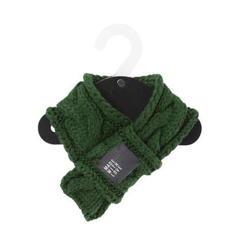 Dog Christmas Christmas  Accessories - Christmas Scarf Warm Winter Pet Dog Scarves Dogs Bow Tie Collars Green / S Under 4.5KG
