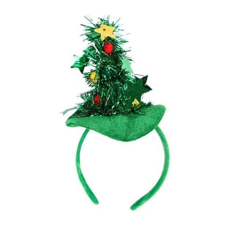 Image of Dog Christmas Christmas  Accessories - Christmas Tree and Witch Hat Christmas Pet Dog Head Ornaments Green