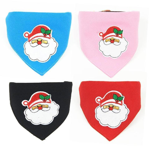 Dog Christmas Christmas  Accessories - Collar Scarf Bib Christmas Collar Bibs Necktie Pet Christmas Dog Tools Suit 1pc blue / S